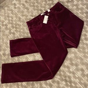 🆕 PLACE Tartar Raisin Velvet Pants Size 14